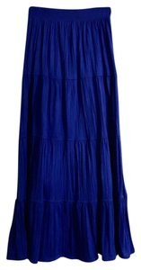 Laura Scott Maxi Skirt Cobalt Blue