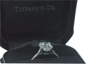 Tiffany & Co. Tiffany & Co Platinum Oval Diamond Solitaire Ring 2.05CT G-VS1