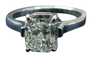 Tiffany & Co. Tiffany & Co PLAT Radiant Diamond Solitaire Ring 2.27CT I-VVS1