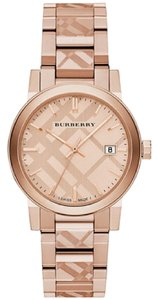 Burberry Burberry BU9039 Rose Gold 38mm Stainless Swiss Made Watch NWT