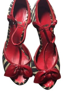 Moschino black red Sandals