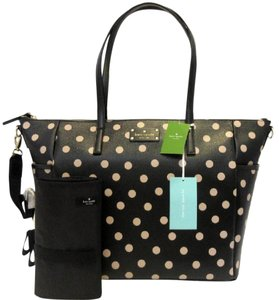 Kate Spade Tote Polka Dot Black Black/ dcobge Diaper Bag