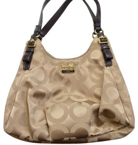 Coach Satchel in Khaki, gold
