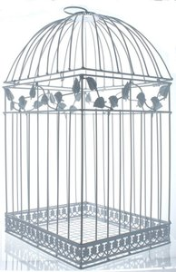 White Birdcage Wedding Gift Card Holder Elegant Birdcage Style Holder