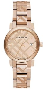 Burberry Burberry Rose Gold Ion Plated Stainless 34 mm Swiss Made BU9146 Watch