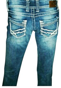 BKE Straight Leg Jeans-Acid
