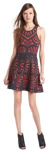 Parker short dress Red and Grey Swing Short Fun on Tradesy