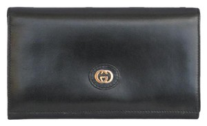 Gucci Vintage Cowhide Leather Clutch Wallet