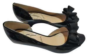 J. Renee Formal Patent Leather Black Wedges
