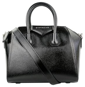 Givenchy Patent Antigona Mini Smooth Calf Satchel in Black