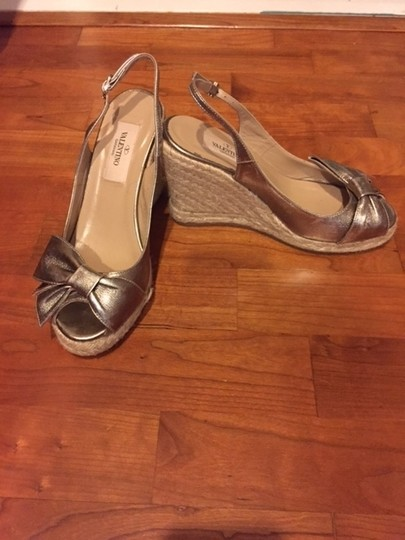 Valentino Pewter Wedges
