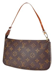 Louis Vuitton Monogram Pochette Accessories Wristlet 214375