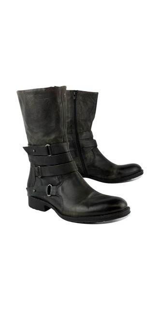 Item - Grey Leather Boots/Booties Size US 8.5 Regular (M, B)