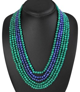 Brazilian Couture Brilliant Top Quality 650 CARAT Natural Emerald & Sapphire Necklace