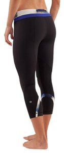 Lululemon Galaxy Cropped Running Exercise Active Capris Black, Blue