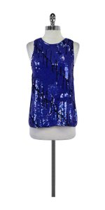 Gryphon Blue & Black Sleeveless Sequin Top