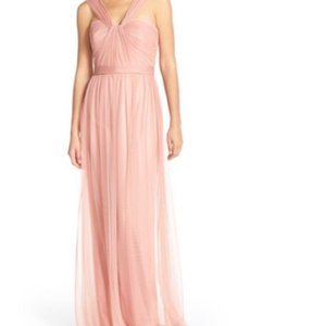 Amsale Rose Amsale Twisted Bridesmaid Tulle Gown Dress