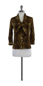 Tory Burch Leopard Print Silk Top