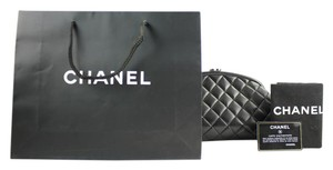 Chanel Classic Flap Timeless Quilted Kisslock Evening Black Clutch