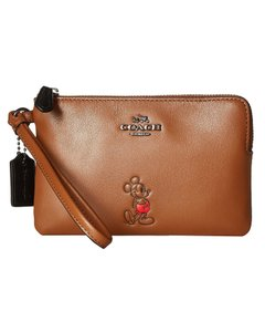 Coach Designer Disney Limited Edition Wristlet in Dk Saddle