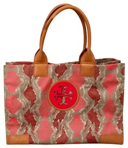 Tory Burch Tote in pink and gray