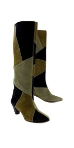 Isabel Marant Tan & Brown Suede Ross Patchwork Boots