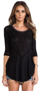Free People Knit Edgy Sweater Tunic Long Top Black