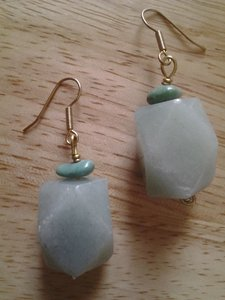 Handmade NEW Handmade Genuine Gemstone Green Aventurine and Turquoise Pendant EARRINGS Buy3Get1FREE Sale!
