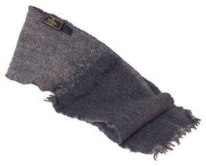 Fendi vintage plain gray wool scarf by fendi