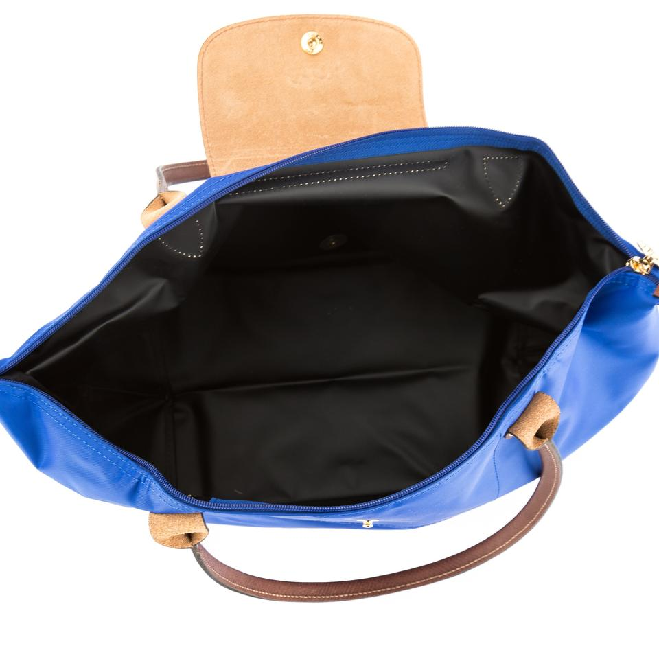 d568097364d Longchamp Le Pliage Large New with Tags Blue Nylon Tote - Tradesy