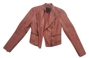 Guess Pink Leather Jacket