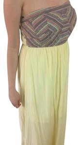Yellow Maxi Dress by Casual Strapless Maxi Dress