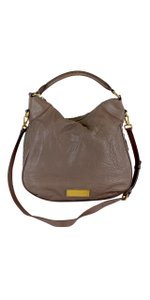 Marc by Marc Jacobs Taupe Pebbled Leather Cross Body Bag