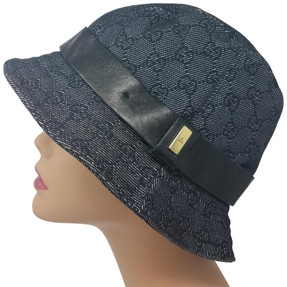 Gucci Black Grey Gg Monogram Canvas Bucket Hat - Tradesy a18d35ddd30