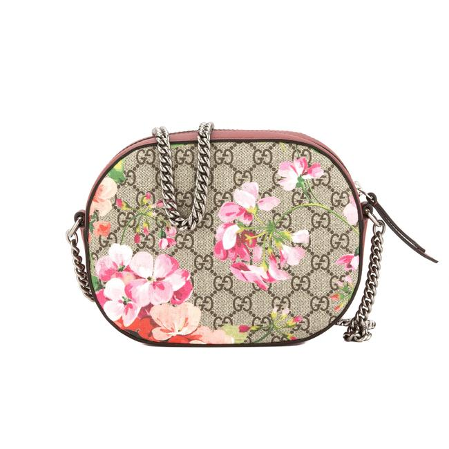 Item - Chain Antique Leather Blooms Gg Supreme Mini New With Rose Canvas Shoulder Bag