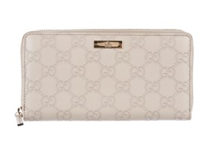 Gucci Ivory Guccissima leather Gucci zip-around wallet