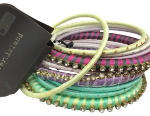 River Island NWT River Island 4464492 Boho Pastel Bangle Set