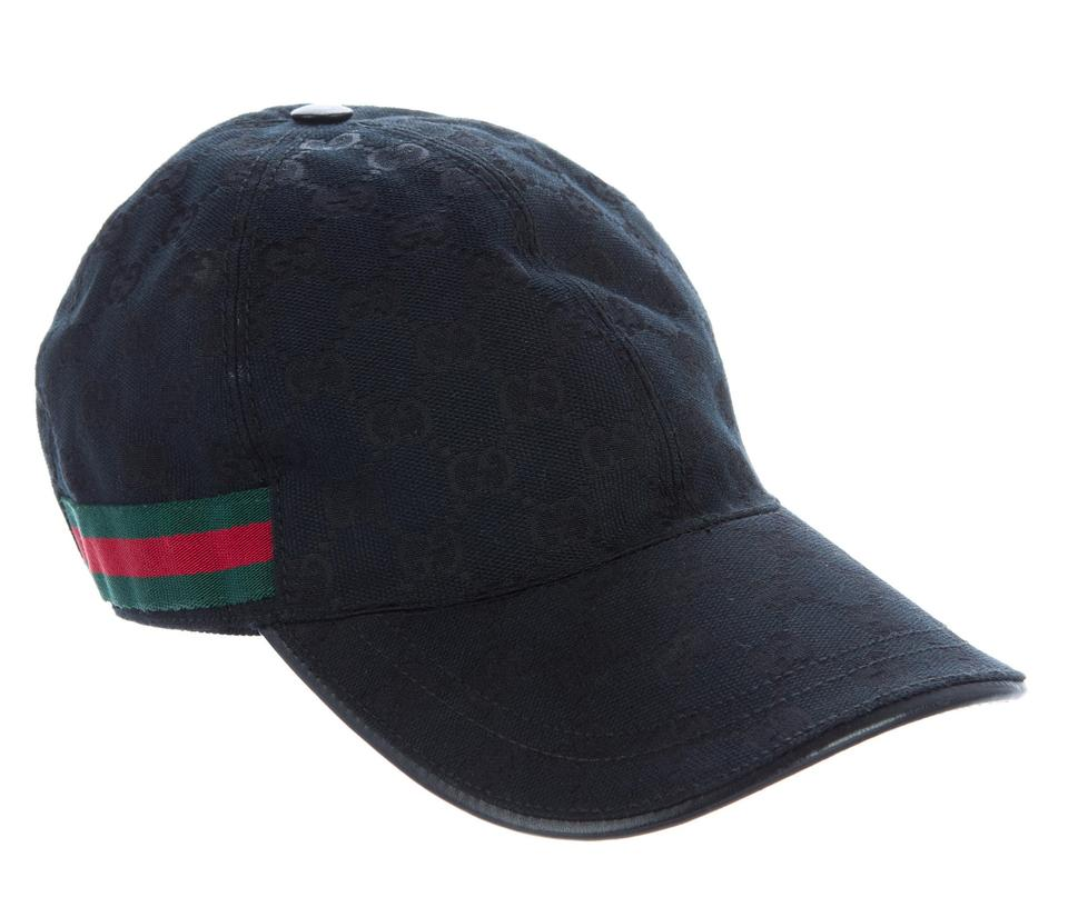 e5adea2d0d7 Gucci Black Red Green Gg Monogram Canvas Baseball Cap L Hat - Tradesy