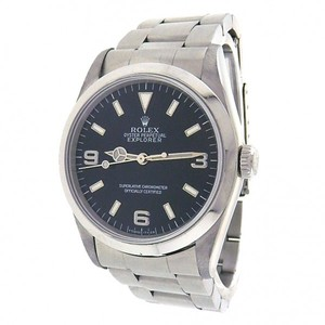Rolex Rolex Explorer 14270 Stainless Steel Automatic Oyster Black Men's