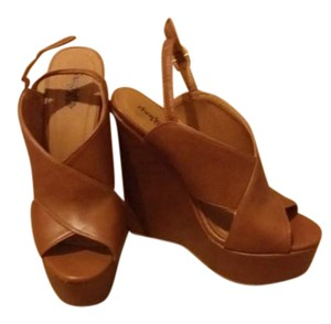 Charlotte Russe Brown/Camel Wedges