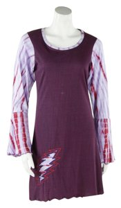 Grateful Dead short dress Wine Hippie Boho The Treasured Hippie Handmade Clothing Affordable on Tradesy