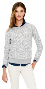J.Crew Long Sleeve Knit Print Crewneck Sweatshirt