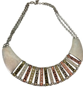 Charming Charlie Chunky Brighton Inspired Short Necklace Multi-Toned Metal