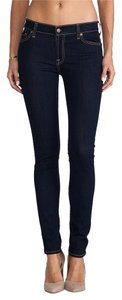 7 For All Mankind Deni Stretc Skinny Jeans-Dark Rinse