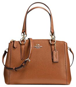 Coach Carryall 34797 36704 Christie Satchel in saddle light gold one
