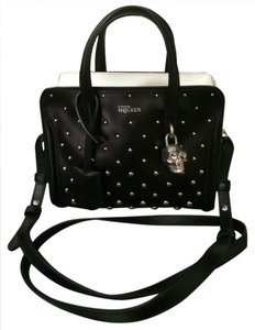 Alexander McQueen Two Leather Tote in black /white