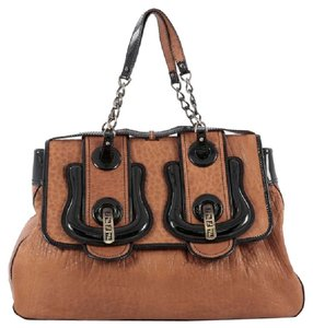 Fendi Leather Satchel in Brown