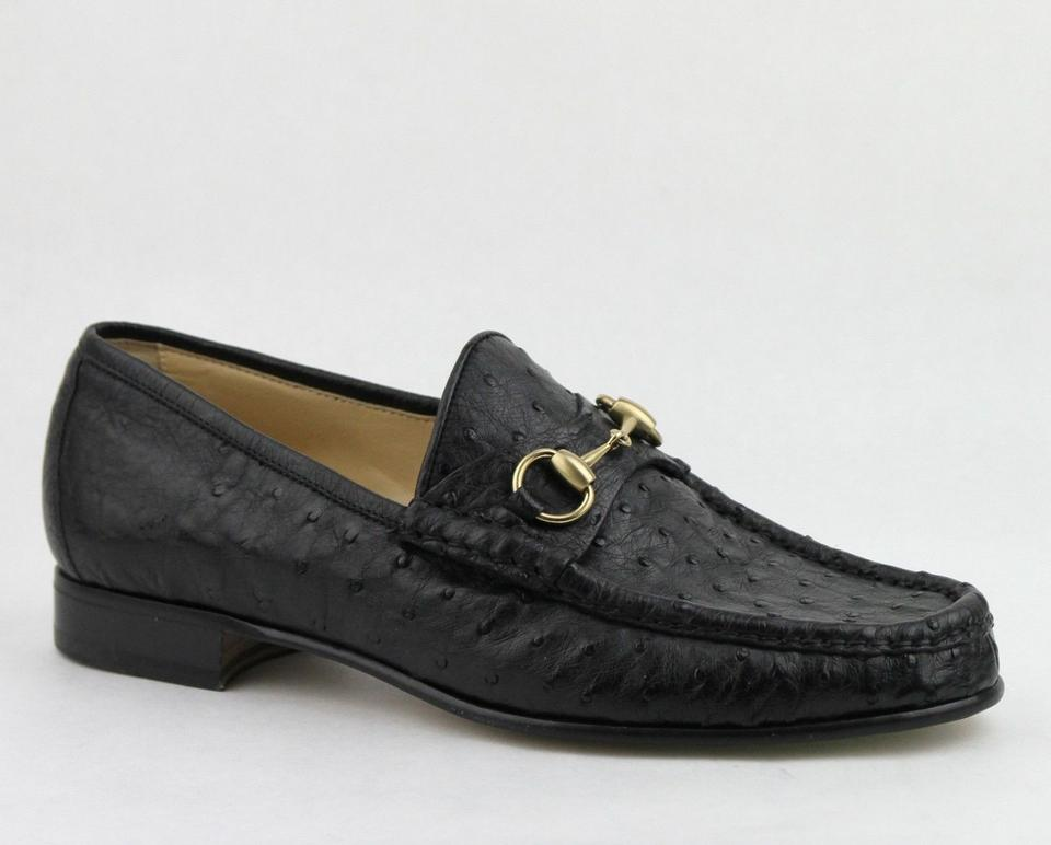 4b1da2b3789 Gucci Black Horsebit Ostrich Classic Loafer Moccasin 6.5  Us 7.5 015941  Shoes Image 0 ...