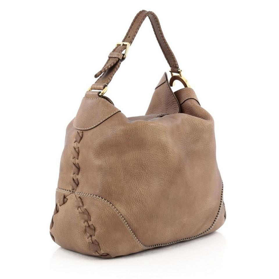 230d666581 Gucci Charlotte Large Brown Leather Hobo Bag - Tradesy