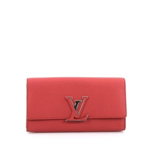 Louis Vuitton Leather Red Clutch